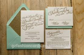 mint wedding invitations mint gold wedding invitations gold glitter invitations