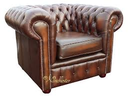 Chesterfield Style Armchair Chesterfield London Low Back Club Armchair Antique Brown Leather