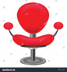 colorful illustration red chair on stock vector 154007630