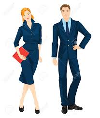 vector illustration of corporate dress code