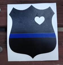 heart police law enforcement badge decal on etsy 5 00 tattoo
