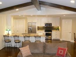 opening up a kitchen to the living room living room ideas
