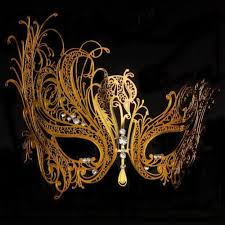 gold masquerade mask aliexpress buy free shipping luxury phantom white metal