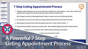 Confirmation Letter Of A Meeting Appointment Or Interview A Powerful 7 Step Listing Appointment Process Youtube