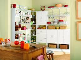 Wooden Kitchen Storage Cabinets by Pretty White Color Wooden Kitchen Storage Pantry With Double Door