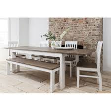 farmhouse table and chairs with bench dining room sets bench seating fabulous dining table set with bench