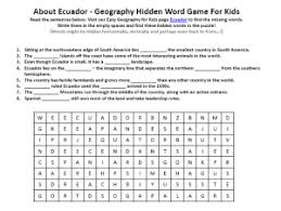 ecuador worksheet printable earth science word search games for