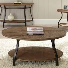 steve silver denise oval light oak wood coffee table hayneedle