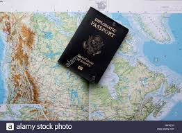 A Map Of Canada by Diplomatic Passport Of The United States Of America On A Map Of