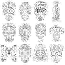 sugar skull coloring book launch and free printable coloring