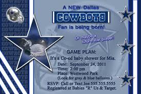 dallas cowboys baby shower invitations u2013 gangcraft net