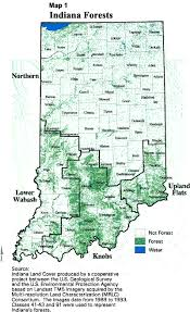 Indiana forest images Forests of indiana a 1998 overview how much of indiana is gif