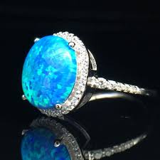 turquoise opal antique halo opal sterling silver ring u2013 tianmix jewellery
