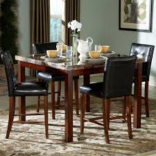 oxford creek 5pc faux marble top counter height dining set home
