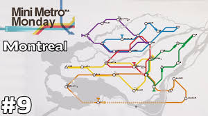 Map Montreal Canada by Montreal Canada Mini Metro Monday Ep9 Youtube
