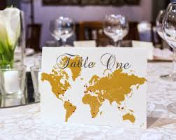 themed table numbers map table numbers etsy