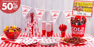 crawfish boil party supplies summer tableware summer theme