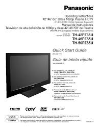 panasonic th 42pz85u manual hdmi digital television