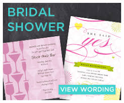 Bridal Shower Invitation Wording Wedding Related Event Invitation And Announcement Wording Examples