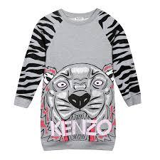 kenzo kids girls tiger print sweater dress bibaloo