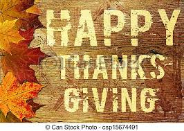 stock illustration of happy thanksgiving background grunge text