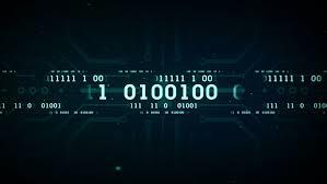 futuristic digital interface screen streaming flashing