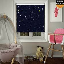 Thermal Blackout Blinds Night Sky Blue Roller Blinds Lifestyleblinds