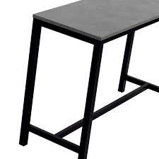 hauteur table haute cuisine table haute de cuisine hauteur 90 cm en stratifié et métal 160 x 60