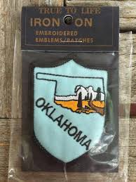 Oklahoma vintage souvenir travel patch from true to life iron on
