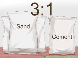 how to mix concrete for making fake rocks 6 steps with pictures