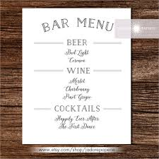 wedding bar menu template 24 bar menu templates free sle exle format