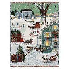 charles wysocki cape cod christmas woven throw blanket u2013 woven
