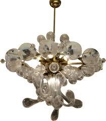 1930s Chandelier by Czechoslovakian Chandelier In Glass Blown 1930s Design Market
