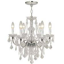 Chandeliers For Home Hton Bay Theresa 6 Light Chrome Chandelier