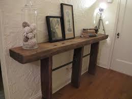Diy Wood Desk by Reclaimed Wood And Pipe Table Diy Handmadeology
