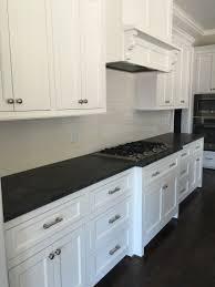 Hardware Kitchen Cabinets by Classic Off White Subways Mystic Grey Granite Sherwin Williams