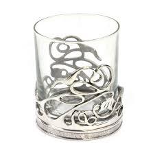 art deco unicorn ring holder images Art deco swirl solid pewter whiskey tumbler holder and glass JPG