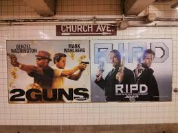 i guess this is the new movie poster template two dudes with guns