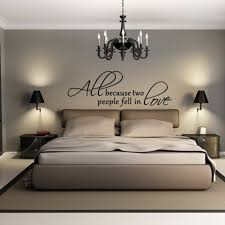 contemporary bedroom ideas using chic decorative wall decals