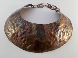 copper necklace images Wide copper necklace by luc a gigena sur design store