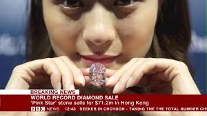 pink star diamond pink star u0027 world record diamond sale hong kong youtube