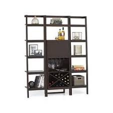 sawyer mocha leaning wine bar with two 24 5 u0027 u0027 bookcases mocha