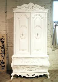 Wood Computer Armoire by White Vintage Armoire U2013 Blackcrow Us
