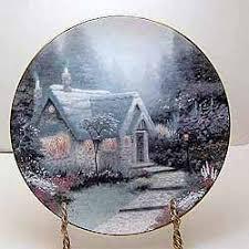 cedar nook cottage collector plate by kinkade