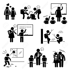 probleme icone bureau ducation école problème social étudiant bâton professeur figure