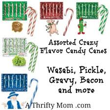 where to buy pickle candy canes assorted candy flavors gravy pickle wasabi bacon and