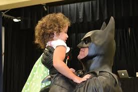 superheroes kids batman visiting children