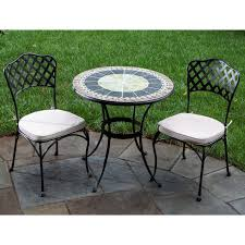 Wicker Bistro Table And Chairs Dining Room Lovable Mosaic Bistro Table For Inspiring Home