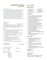 resume exles for teachers teachers cv exle format resume sle and