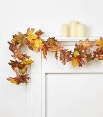 maple leaf garland with lights blooming autumn 66 pumpkin pinecone maple leaves garland with